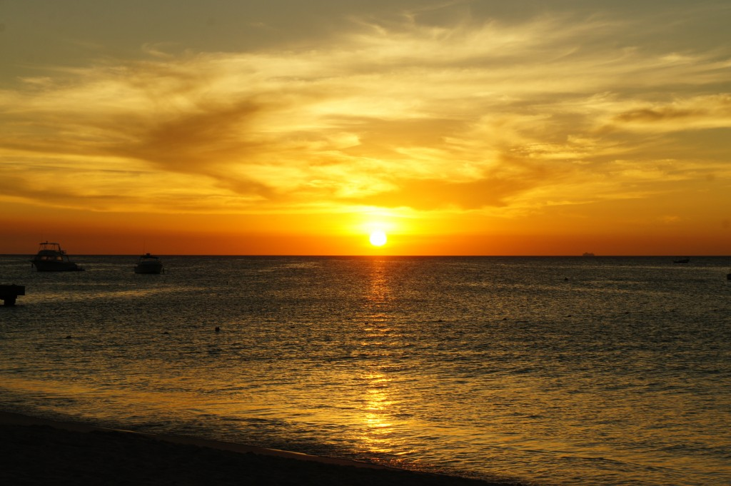 Sunset from Palm Beach, Aruba