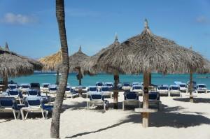 Palapas at the Radisson Aruba Resort