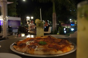 Delicious Pizza at Amore Mio Aruba
