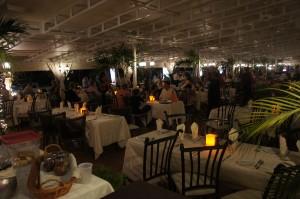 Interior of Gianni's Restaurant Aruba