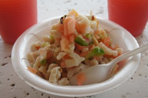 Fresh conch salad at Billy Joe's on the Beach Grand Bahama
