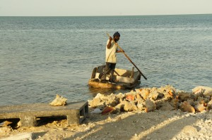 Conch fishermen in Grand Bahama