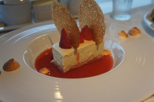 Angel Cake dessert at White Modern Aruba