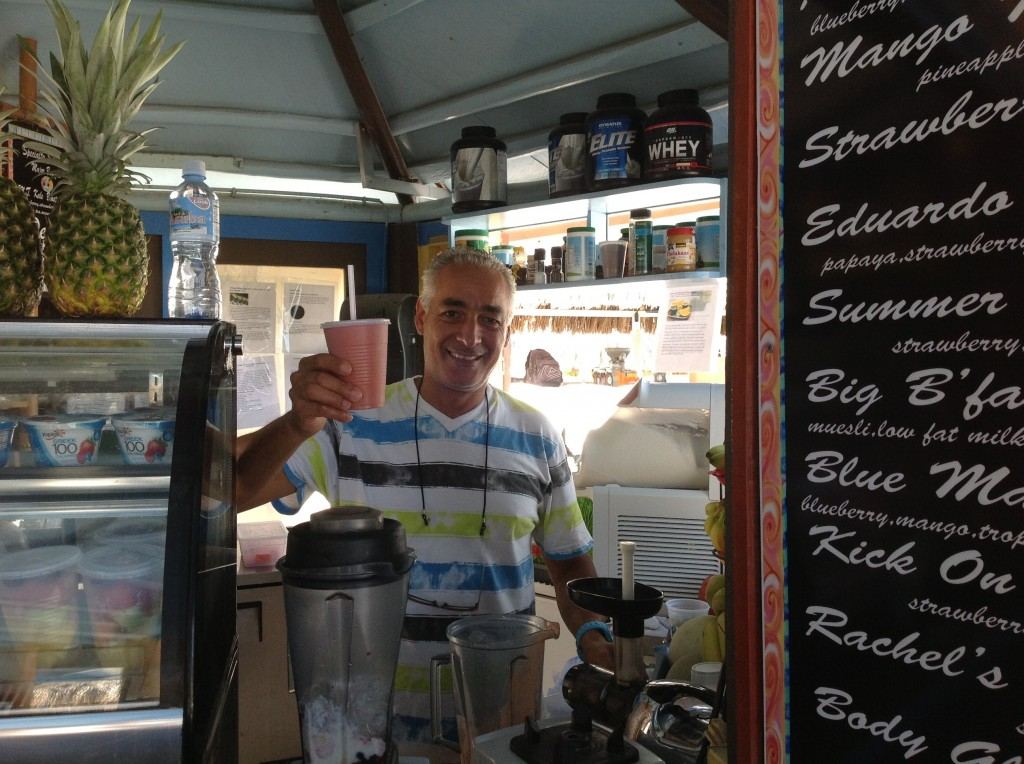 Eduardo's serves the best  smoothies in Aruba!