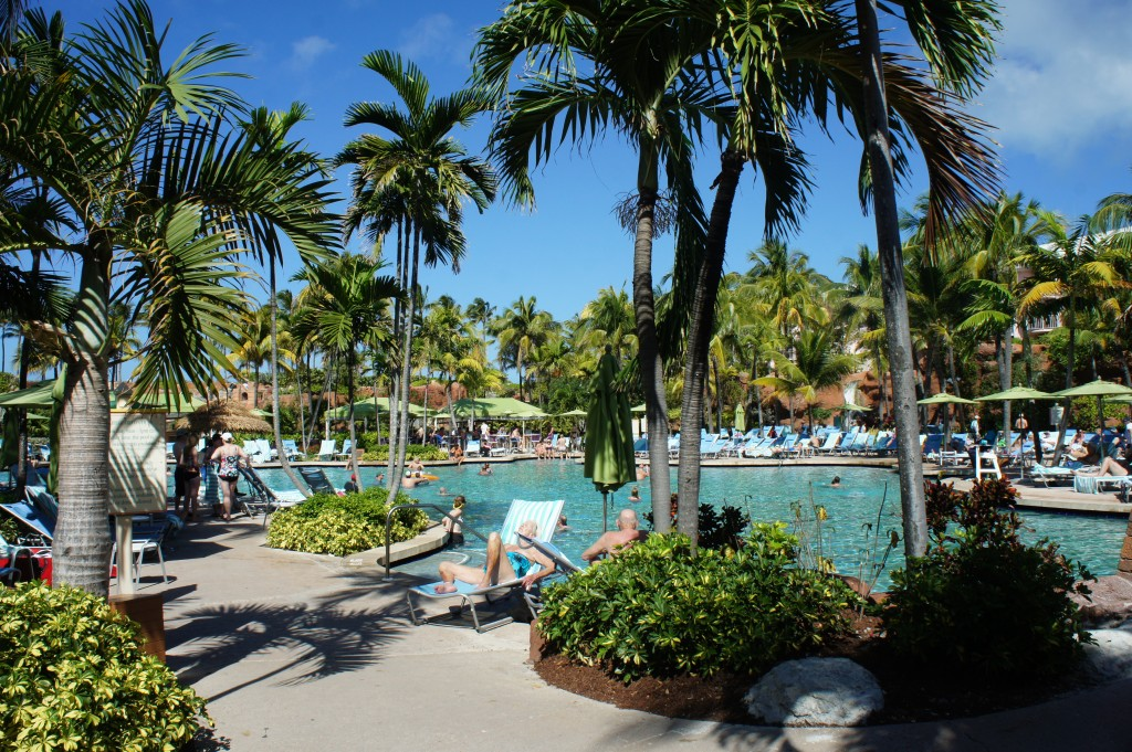 Guests enjoying the pool at Atlantis