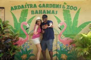 Having fun at Ardstra Gardens!