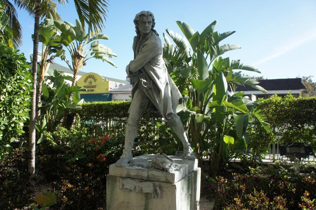 Woodes Rogers Statue Nassau Hilton