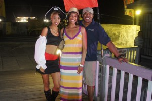 Posing with a lovely lady pirate at Festival Rum Bahamas 2014