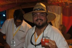 Capt. Morgain bartender serving a delightful rum punch at Festival Rum Bahamas 2014