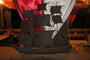 Pirate ship made from repurposed steel drum at Festival Rum Bahamas 2014