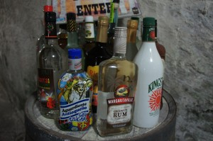 Some of the rums entered in the competition at Rum Festival Bahamas 2014