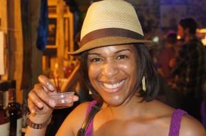 Sampling rum at Festval Rum Bahamas 2014