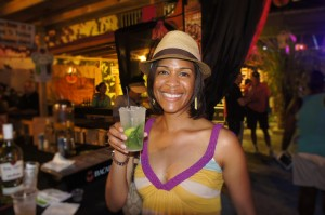 Passionfruit Sista giving a smile of approval for Bacardi's Pineapply Mojito