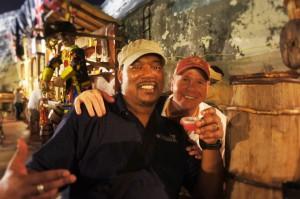 Mango Eddie and Rumshop Ryan enjoying Festival Rum Bahamas 2014