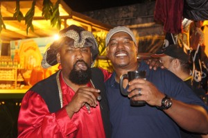 A mean-faced pirate welcomed Mango Eddie to the Festival Rum Bahamas 2014