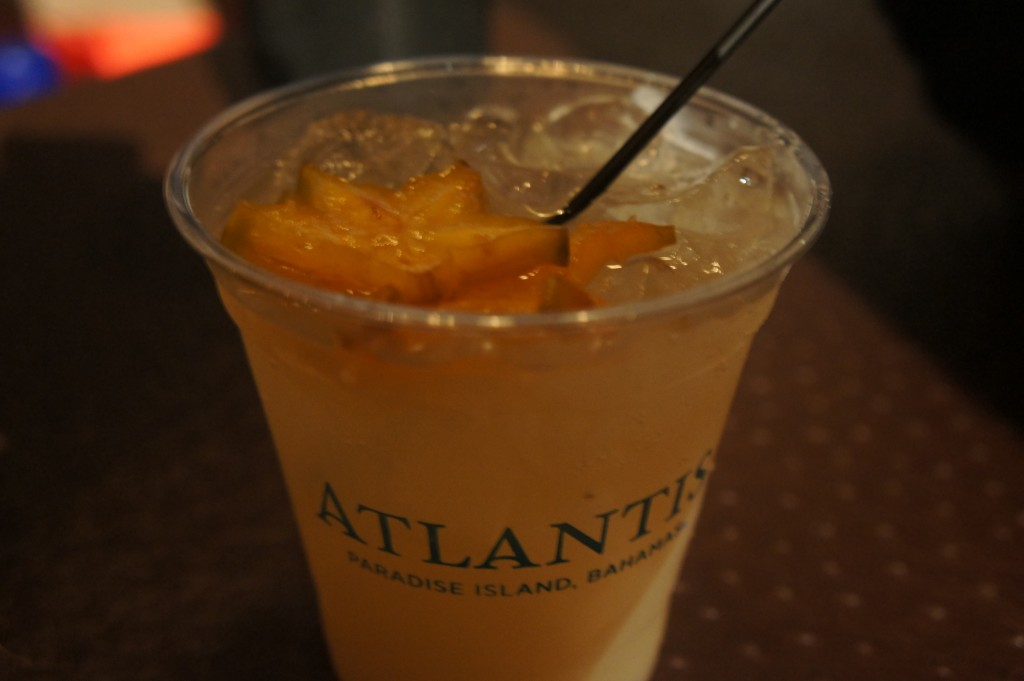 The signature drink of the Rum Festival Bahamas 2014 - the Dirty Mule