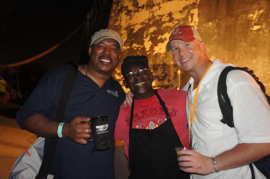 Mango Eddie and Rumshop Ryan with the King of Jerk