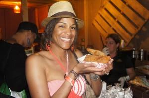 Enjoying fresh empanadas at Rum Bestival Bahamas 2014
