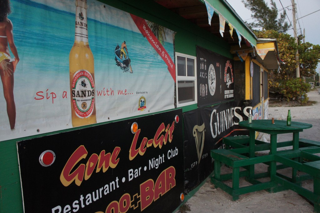 Exterior of the $2.00 Bar in Grand Bahama