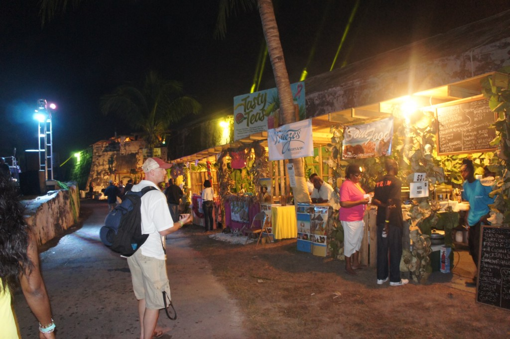 Some of the food booths at Festival Rum bahams 2014