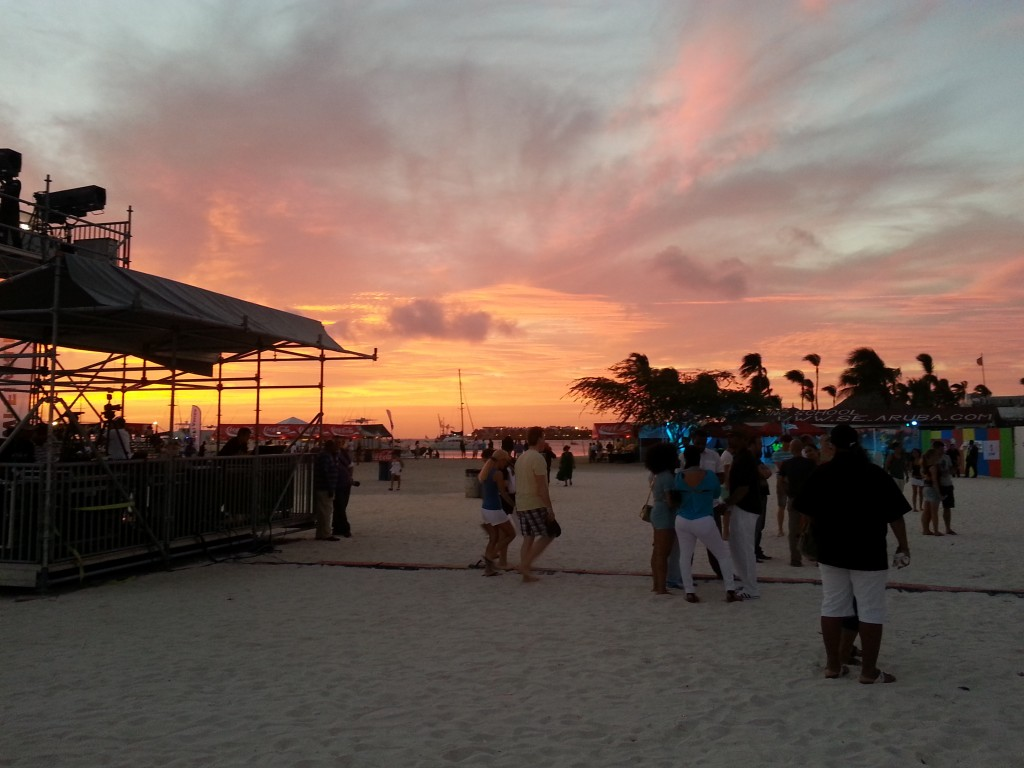 Sun setting on Nikki Beach before Soul Beach Music Fest 2014