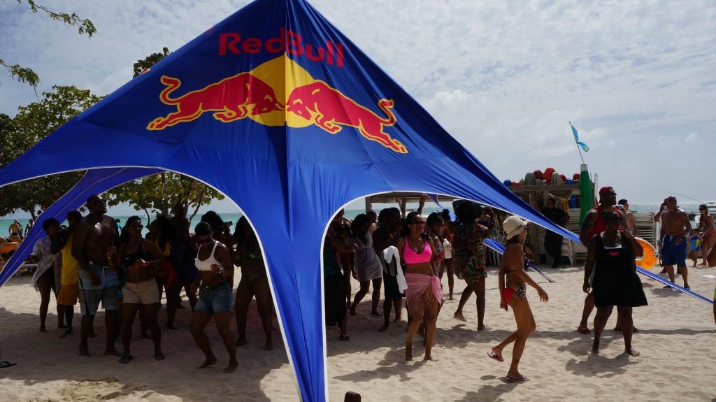 RedBull Tent Aruba Soul Beach Music Fest 2014
