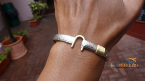 Silver and gold hook bracelet from Liberty Jewelers St. Thomas