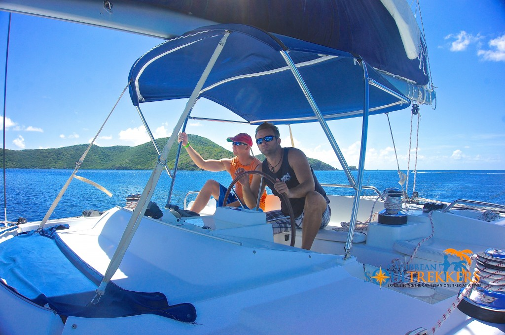 Captain Shawn Martin Sailing the BVI
