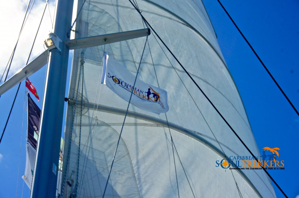 Caribbean Soul Trekkers Flag Sailing the BVI
