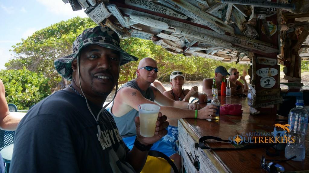 Mango Eddie at The Big Bamboo Beach Bar, Anegada BVI