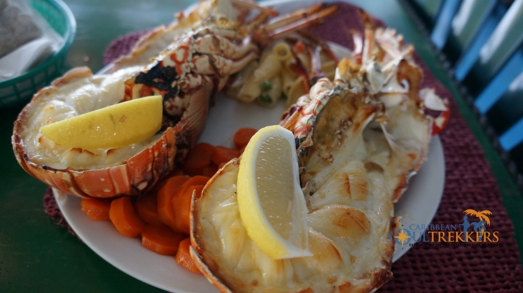 Grilled lobster is a must-have the The Big Bamboo Restaurant in Anegada BVI