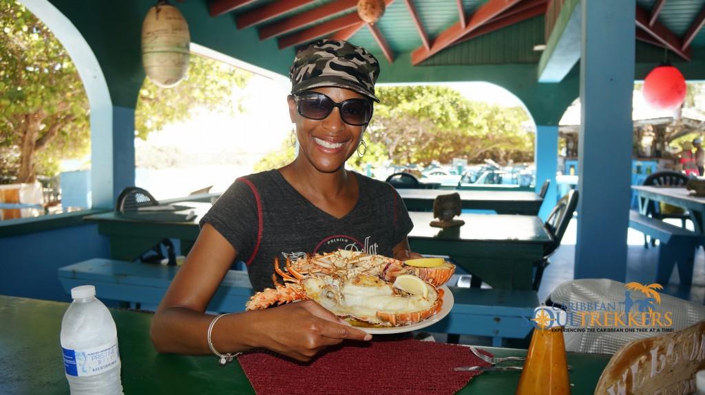 Lobster at The Big Bamboo Beach Bar and Restaurant Anegada BVI