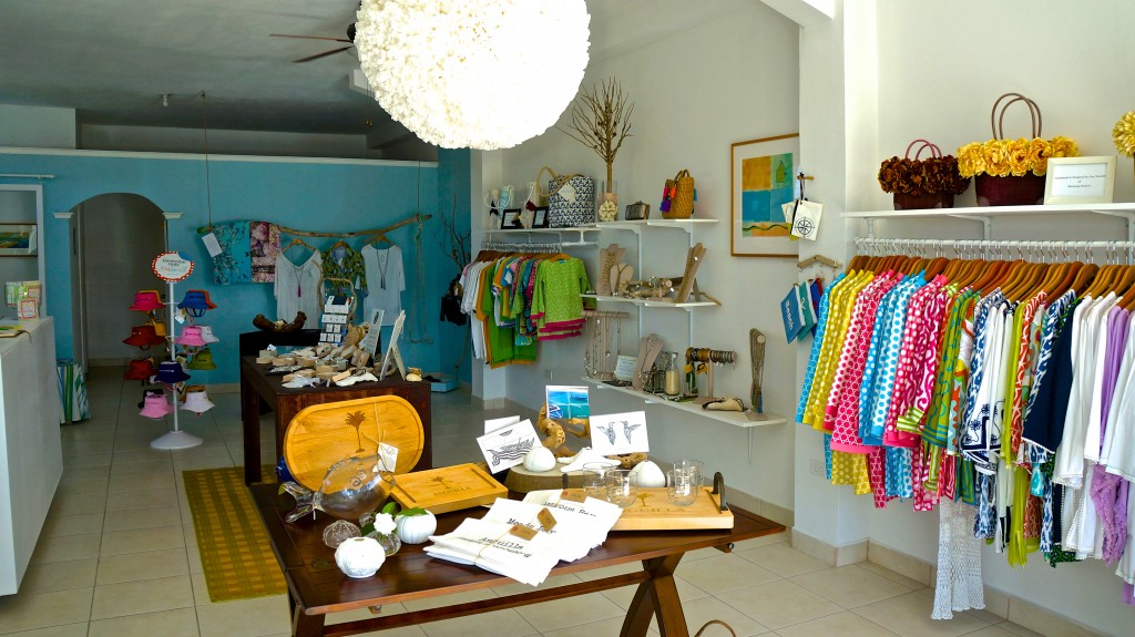 Interior of Limin' Boutique in Anguilla