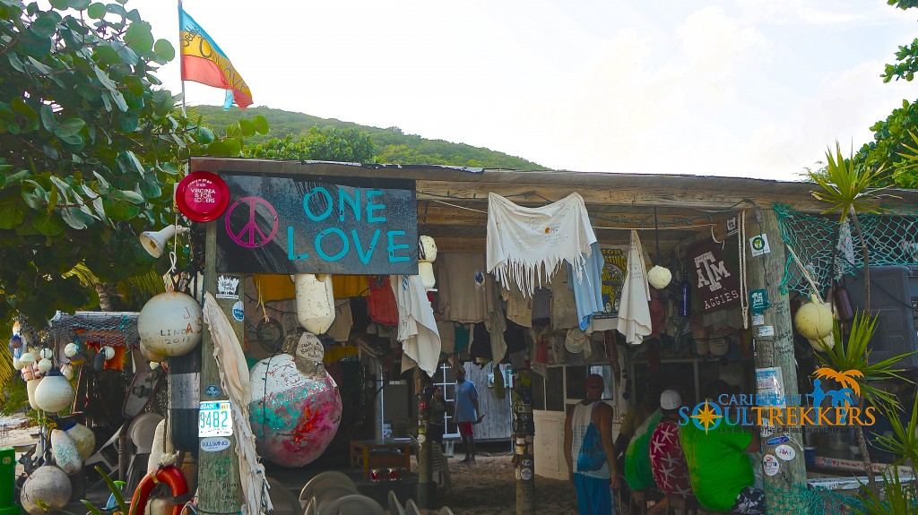 Exterior of One Love Bar and Grill
