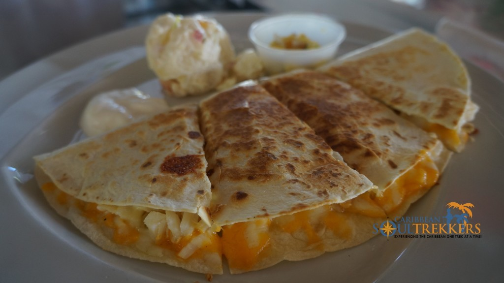 One Love Bar and Grill's infamous lobster quesadilla