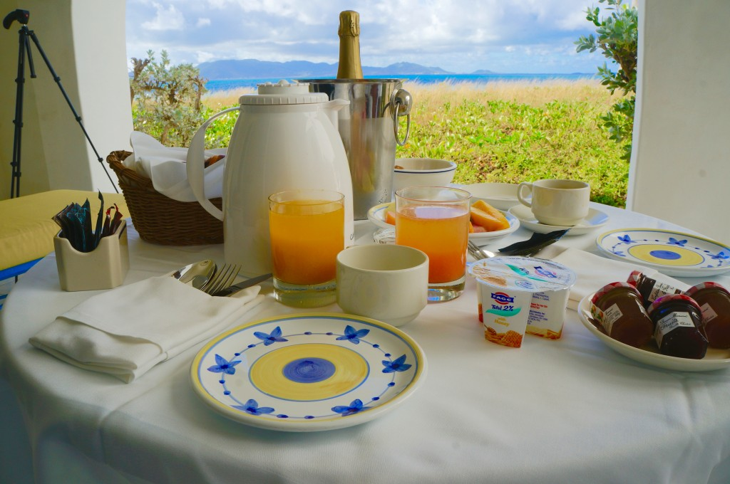 The perfect Caribbean breakfast from our patio at CuisinArt Golf Resort and Spa